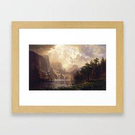 Among the Sierra Nevada, California by Albert Bierstadt Framed Art Print