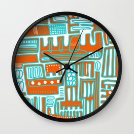 City on top Wall Clock