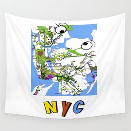 Kiss-NYC map Wall Tapestry