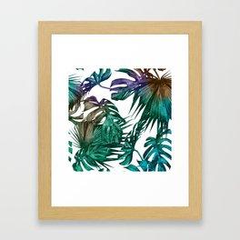 Tropics Tropical Jungle Island Pattern Framed Art Print