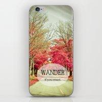 wanderlust iPhone & iPod Skins featuring Wanderlust by Olivia Joy StClaire