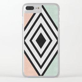 Fashion diamond II Clear iPhone Case