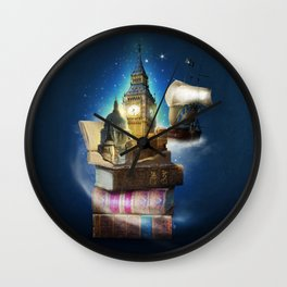 Stories from the second star Wall Clock