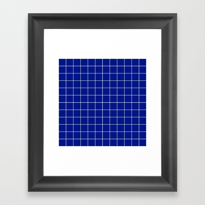 Sapphire Grid Gerahmter Kunstdruck