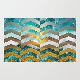 Golden Lapas -Wide Chevrons Rug