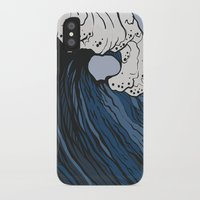 anxiety iPhone & iPod Cases featuring Anxiety by Ksenia Palfy