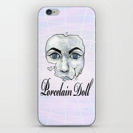 Porcelain Doll Broken Beauty iPhone Skin