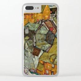 "Egon Schiele ""Crescent of Houses II (Island Town)"" Clear iPhone Case"