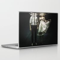 humor Laptop & iPad Skins featuring abyss of the disheartened : IV by Heather Landis