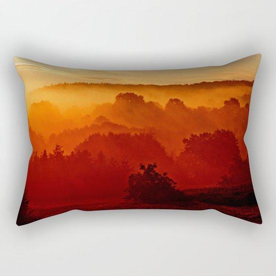 Mystical foggy morning Rectangular Pillow