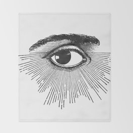 I See You. Black and White Throw Blanket