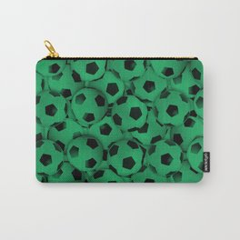 Field of Green Soccer Balls Carry-All Pouch
