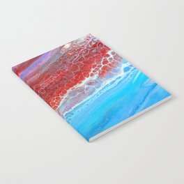red and blue Notebook