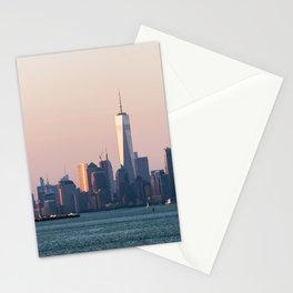 New York City Summer Sunset Skyline Stationery Cards