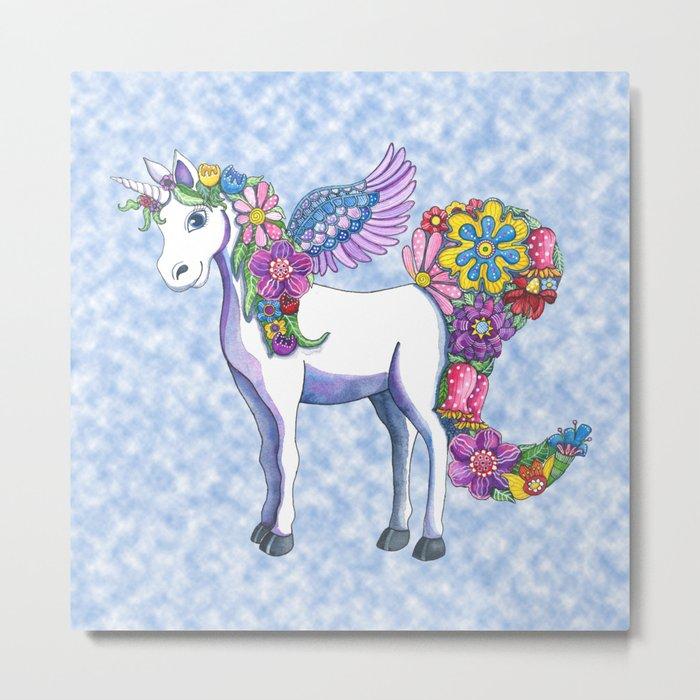 Madeline the Magic Unicorn 2 Metal Print