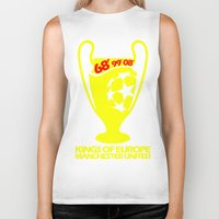 manchester Biker Tanks featuring Champions League Manchester by Sport_Designs