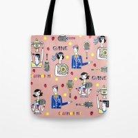 tennis Tote Bags featuring tennis by Hui_Yuan-Chang
