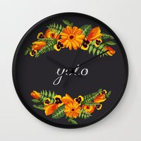 wwe Wall Clocks featuring Yolo by eARTh