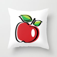 Apple Swoozle Throw Pillow