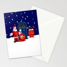 Tardis Santa Christmas Stationery Cards