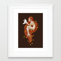 kitsune Framed Art Prints featuring Kitsune by Freeminds