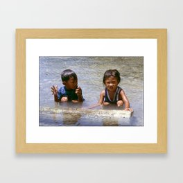 The Fish Was This Big! Framed Art Print