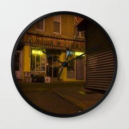 CHINATOWN NYC AT NIGHT. Wall Clock