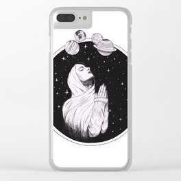 Pray The Universe Clear iPhone Case
