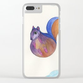 Squirrel In The Sky Clear iPhone Case