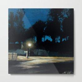 Street Light on the Circle Metal Print