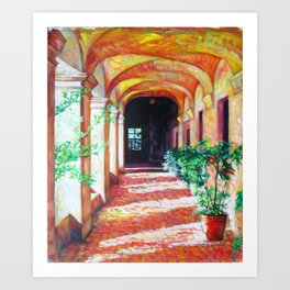 Hallway Walk, Original Acrylic on canvas, contemporary Art Print