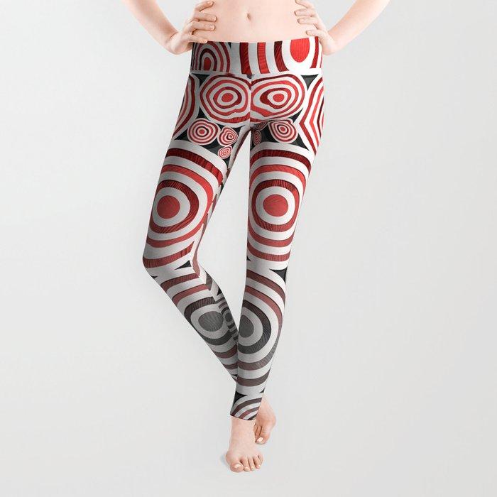 Drop Close/Red Leggings