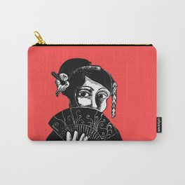 Geisha Red and Black Art Carry-All Pouch