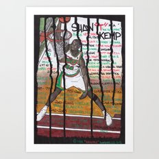 NBA PLAYERS - Shawn Kemp Art Print