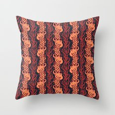 Warm Octopus Reef Throw Pillow