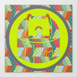 retro pattern and observatory 2 Canvas Print
