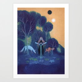 Filling the Well Art Print