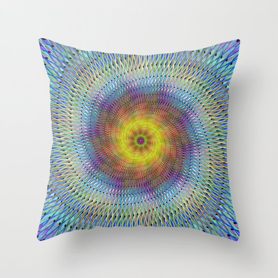 Psychedelic spiral Throw Pillow