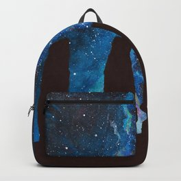 Outlander Craigh Na Dun Standing Stones Watercolor Painting with milky way galaxy Backpack