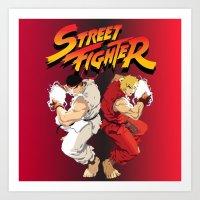 street fighter Art Prints featuring Street Fighter by Zanderillos