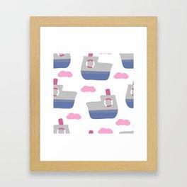 Happy journey Framed Art Print