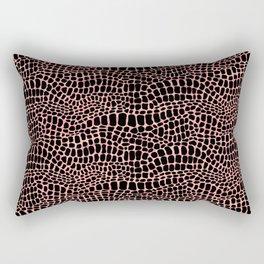 Crocodile / Alligator Skin V Rectangular Pillow