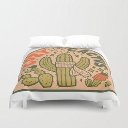 Cozy as a Cactus Duvet Cover