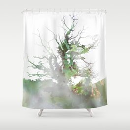 Where the sea sings to the trees - 1 Shower Curtain
