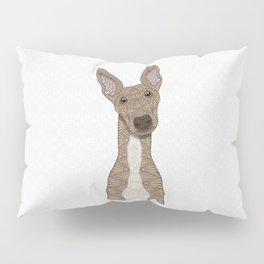 Cute Fawn & White Greyhound Pillow Sham