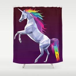 Geometric Unicorn Shower Curtain