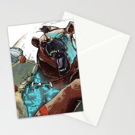 Animal rage Stationery Cards