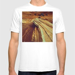 Surreal Spectacular Southwest Rocky Canyon Exotic Texture T-shirt