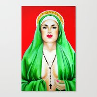 religious Canvas Prints featuring Religious by Paintings by Callie Prado