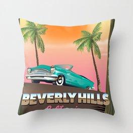 Beverly Hills California Throw Pillow